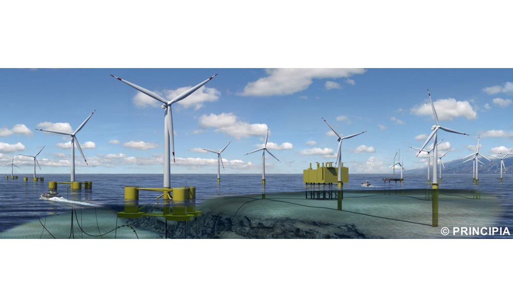 mooring lines for offshore windturbines by principia