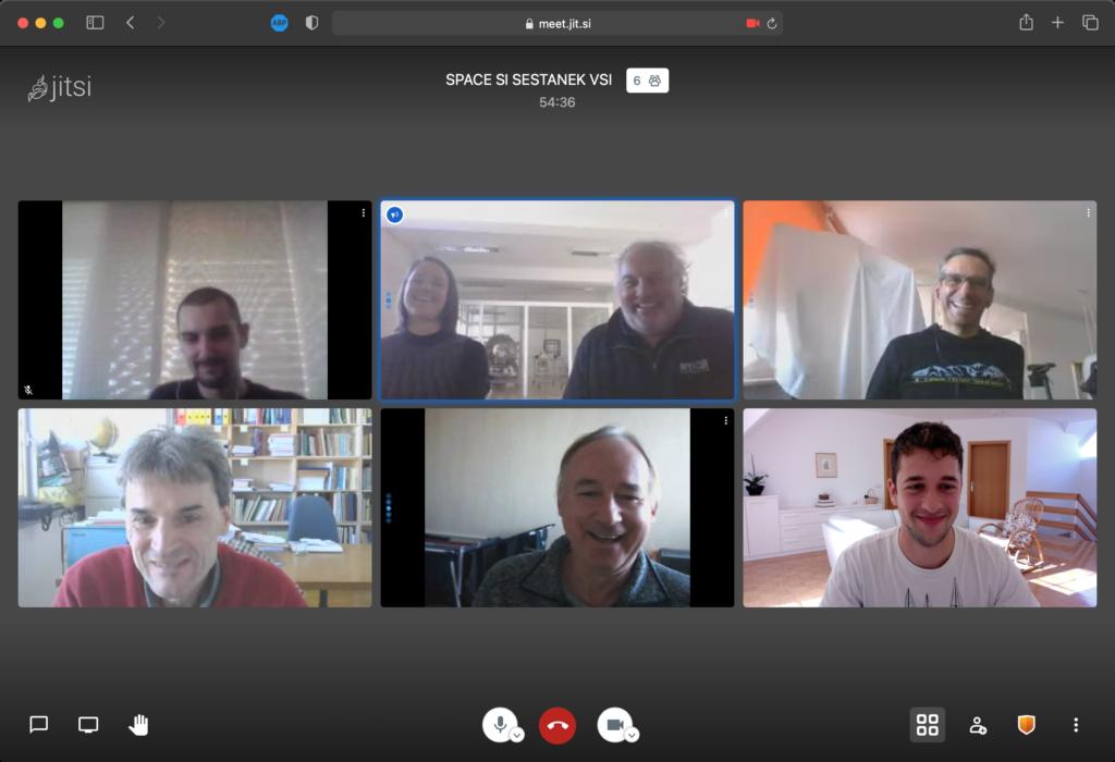 Online meeting: SPACE-SI, URFCE, C3M, UL